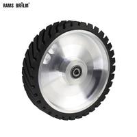 250*50 мм зубчатая машина шлифовальная ленточная Контактное Колесо резиновое колесо для абразивный шлифовальный ремень