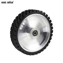 250*50ミリメートル鋸歯状ベルトグラインダーコンタクトホイールゴム車輪のための研磨剤研磨ベルト