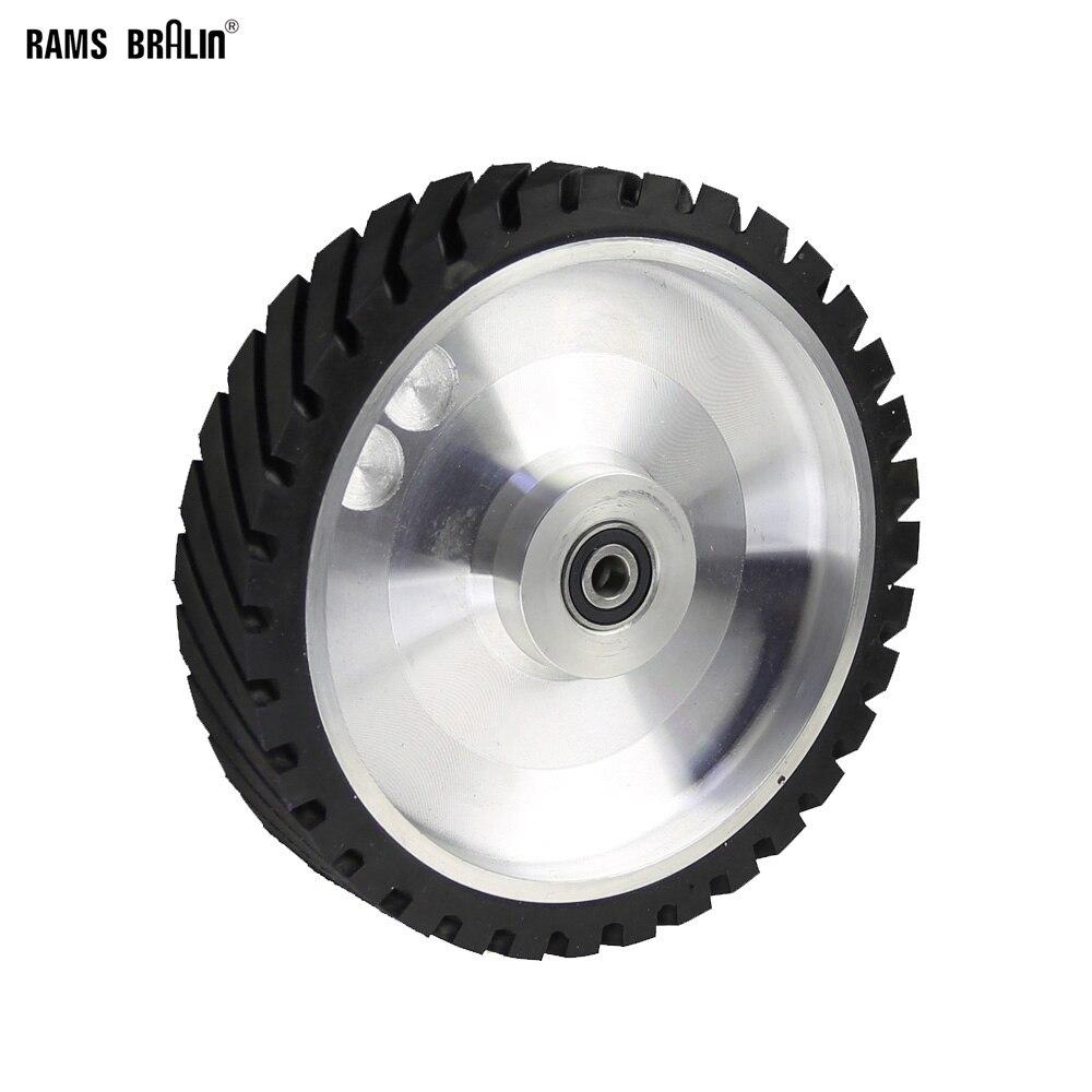 250*50mm Correa serrada rueda de contacto rueda de goma para cinta de lijado abrasiva