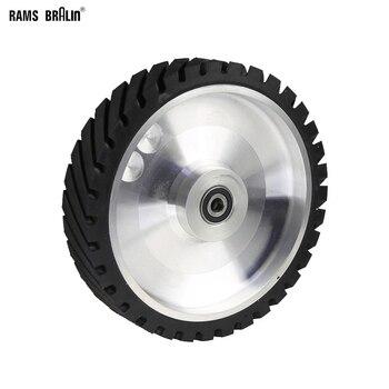250*50mm Gezackten Gürtel Grinder Kontaktieren rad Gummi Rad für Abrasive Schleifen Gürtel