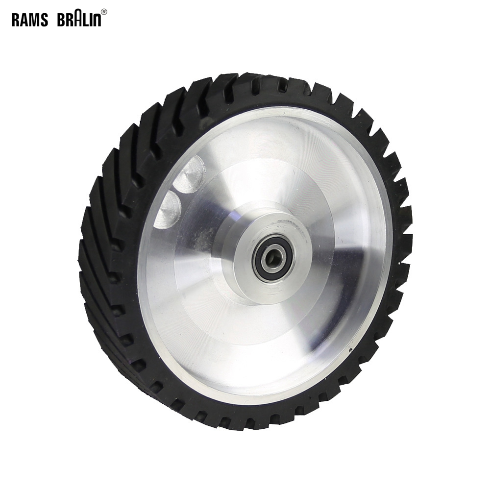 250*50mm Serrated Belt Grinder Contact Wheel Rubber Wheel For Abrasive Sanding Belt