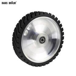 250*50mm Serrated Belt Grinder Contact wheel Rubber Wheel for Abrasive Sanding Belt