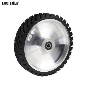 Image 1 - 250*50mm Serrated Belt Grinder Contact wheel Rubber Wheel for Abrasive Sanding Belt