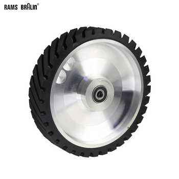 250*50mm Serrated Belt Grinder Contact wheel Rubber Wheel for Abrasive Sanding Belt - DISCOUNT ITEM  10% OFF All Category