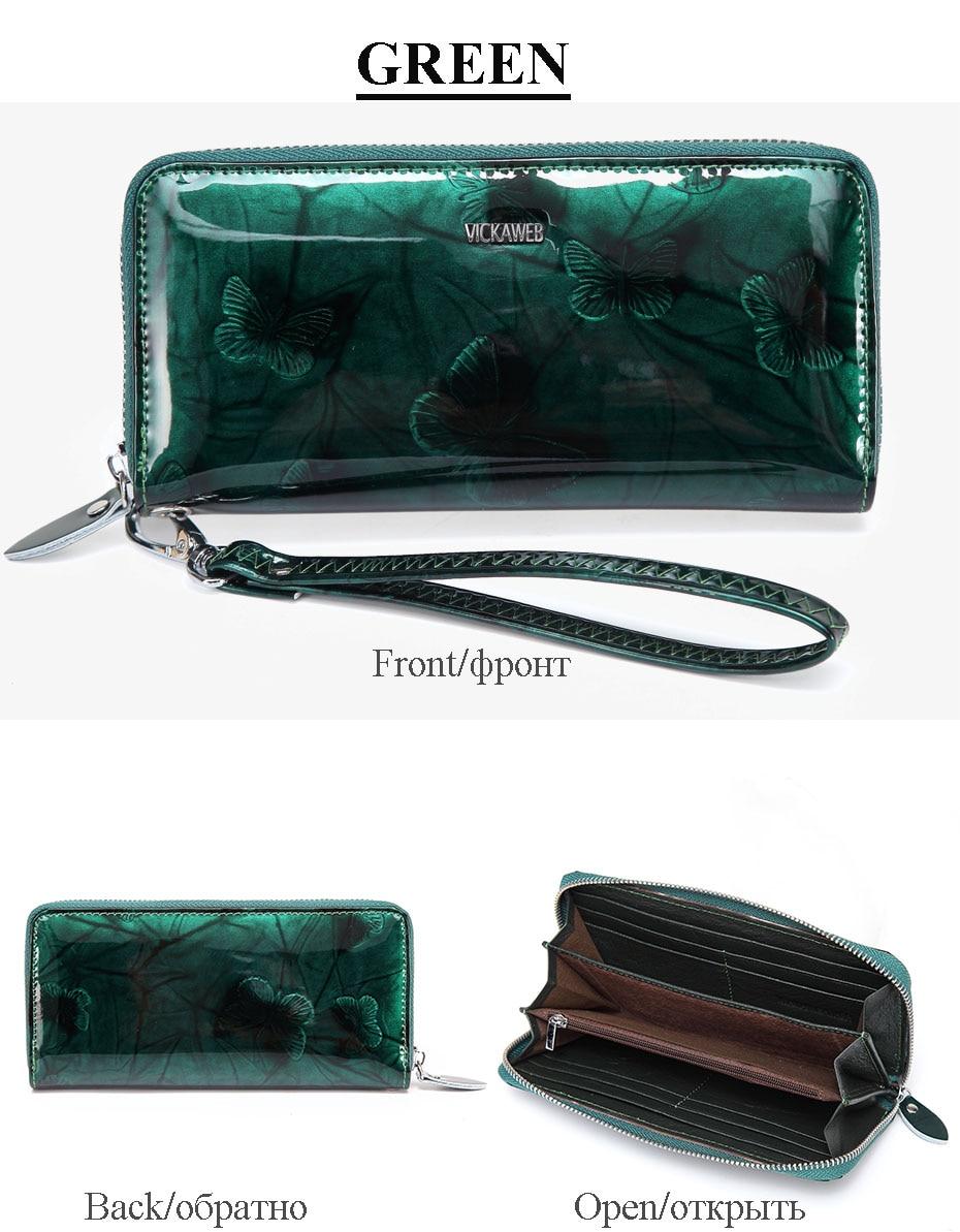 VICKAWEB Wristlet Wallet Female Animal Prints Women Wallets Genuine Leather Purses Ladies Fashion Zipper Purse Standard Wallets-PJ38-020