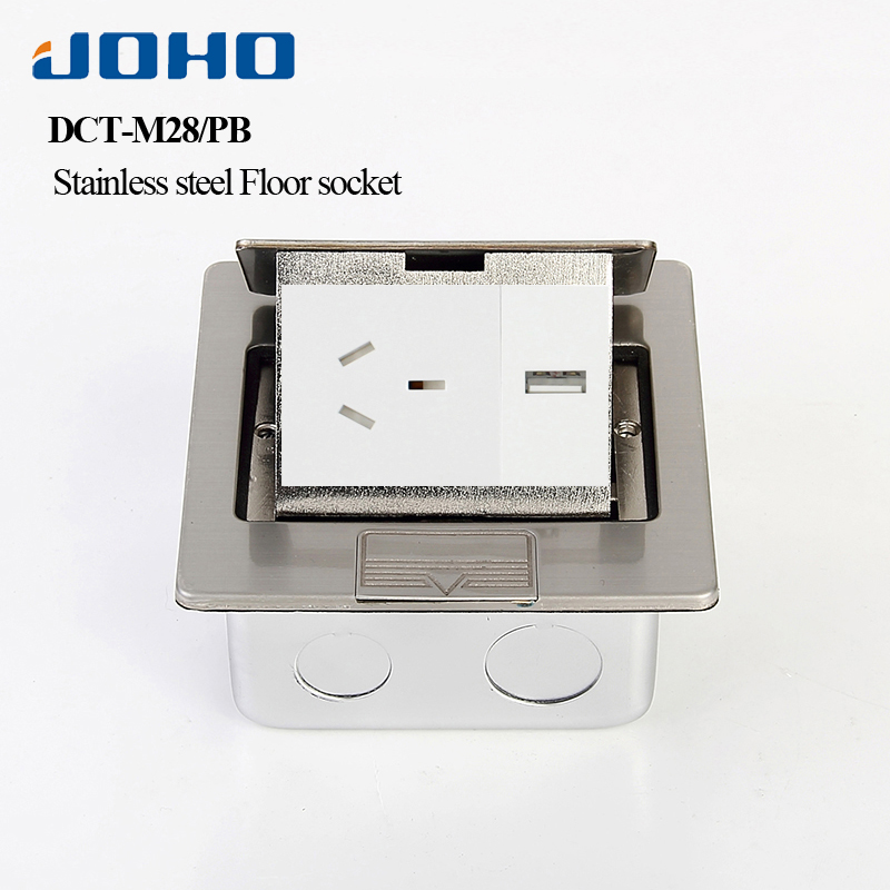 JOHO Stainless Steel Fast Pop Up Electrical Floor Socket Box With Australian Socket 10A 250V Electrical Outlets Equipment