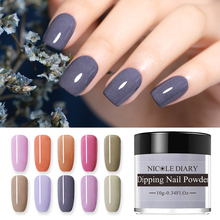 NICOLE DIARY Matte Effects Dipping Nail Powder Nails Glitter 10g French Pigment Decoration Natural Dry Manicure Art