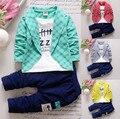 2-6 Crianças Outono Roupas Meninos Luva Longa Das Meninas Moda Infantil roupas Terno Dos Esportes para Meninas jaqueta + calça 2-Piece Suit conjunto