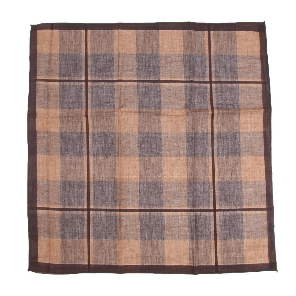 Men Pocket Square Hankerchief Cotton Grid Hanky Wedding Party of 12pieces