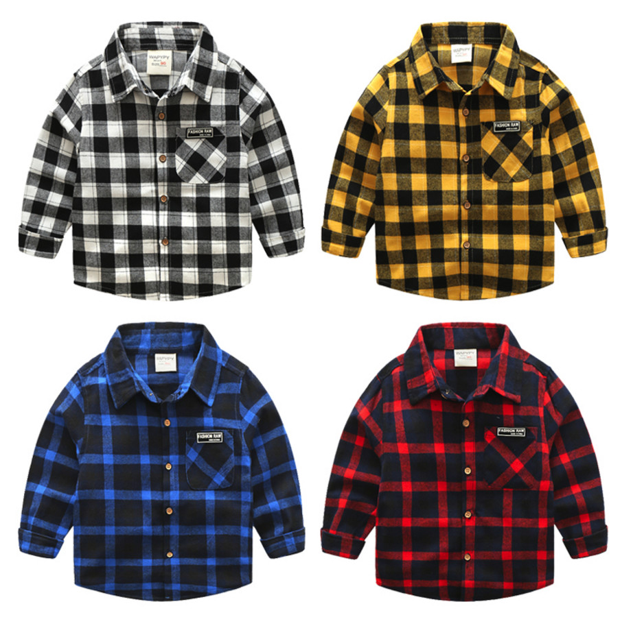 New Boys Shirt for Kids Cotton Clothing 2018 Fashion New Baby Boy Plaid Shirts Long Sleeve England School Trend Children Clothes 2018 new arrival boy suits england style boys blazer long sleeve plaid for kids clothes