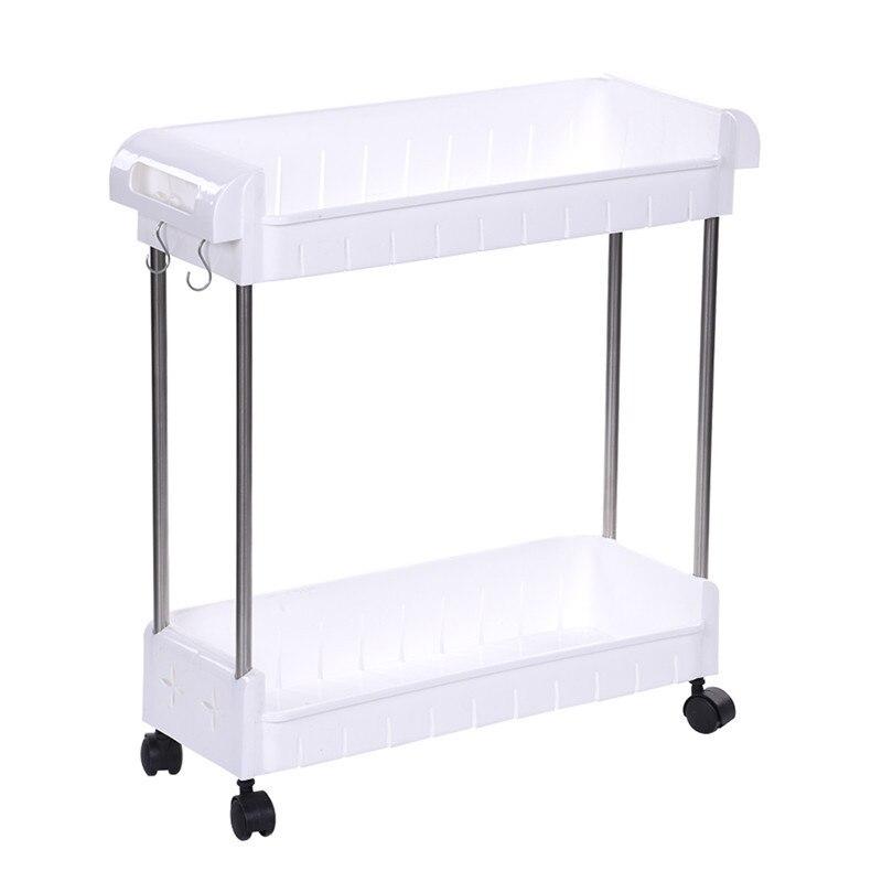 Side Table Badkamer.Us 26 6 24 Off Verwijderbare Opslag Rack Plank Met Wielen Badkamer Keuken Koelkast Side Planken Multi Layer Rvs Huis Organizer In Opslag Houders