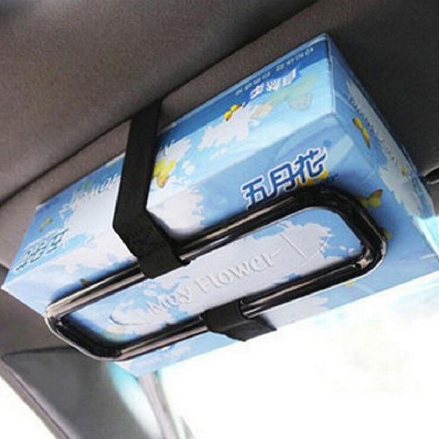 Black Car Sun Visor Tissue Paper Box Holder Automobile Car Organizer Auto Storage Accessories Seat Back Clip Bracket for Paper