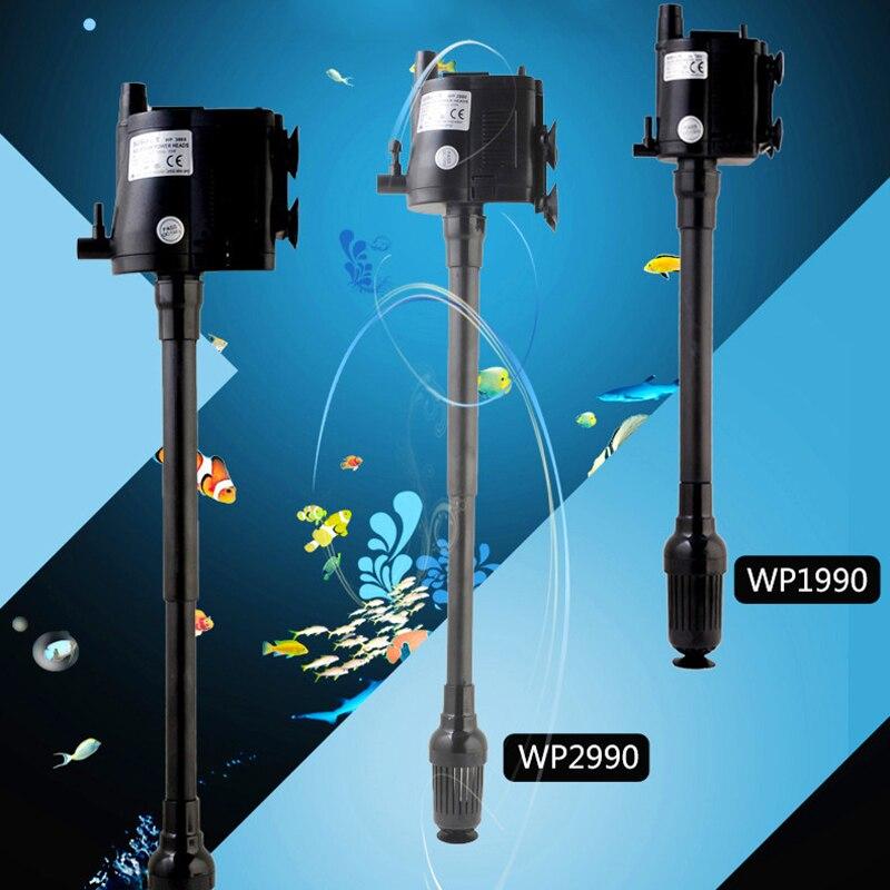 Ultra silencioso bomba de agua sumergible aireador oxígeno ondas que hace el bombeo bomba de agua para el tanque de pescado acuario filtro aire de oxígeno bomba