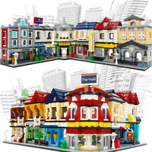 compatible legoingly Mini City Street View Restaurant tax exchange Bureau Bookstore Building Blocks Bricks Kids Toys Gift
