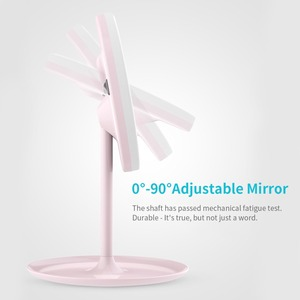 Image 2 - Зеркало для макияжа с регулируемой яркостью, светодиодное HD зеркало для макияжа Mijia, косметическое зеркало для макияжа