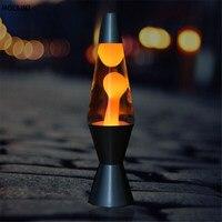 Novelty LED Metal Base Lava Lamp 220v Wax Volcanic Cone Style Night Light Christmas Decor For
