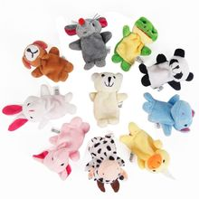 10Pcs Cartoon Animal Finger Puppets Set Mini Plush Baby Boys Girls Story Telling Hand Cloth Doll Educational Toys Feb-15