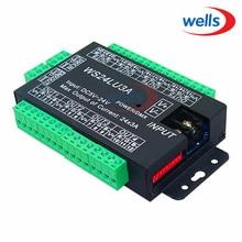 цена на 24CH Easy dmx512 DMX decoder,LED dimmer Controller, DC5V-24V,each CH Max 3A,8 groups RGB controller, Iron case