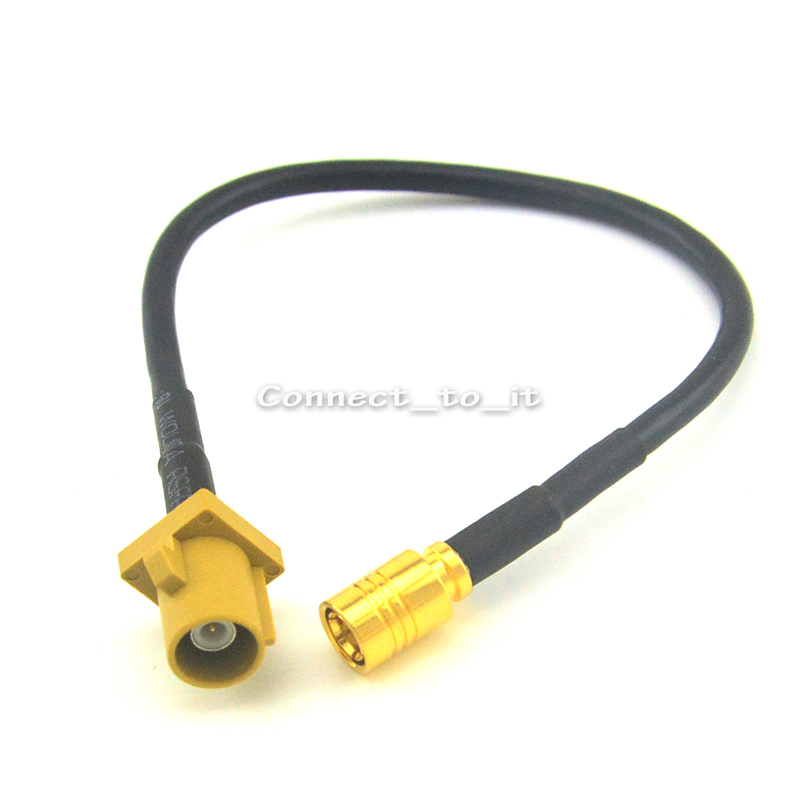 все цены на  GSM Antenna Extension Cord RF Coaxial Cable Fakra K Male to SMB Female Jack Connector Pigtail Cable RG174 15CM  онлайн