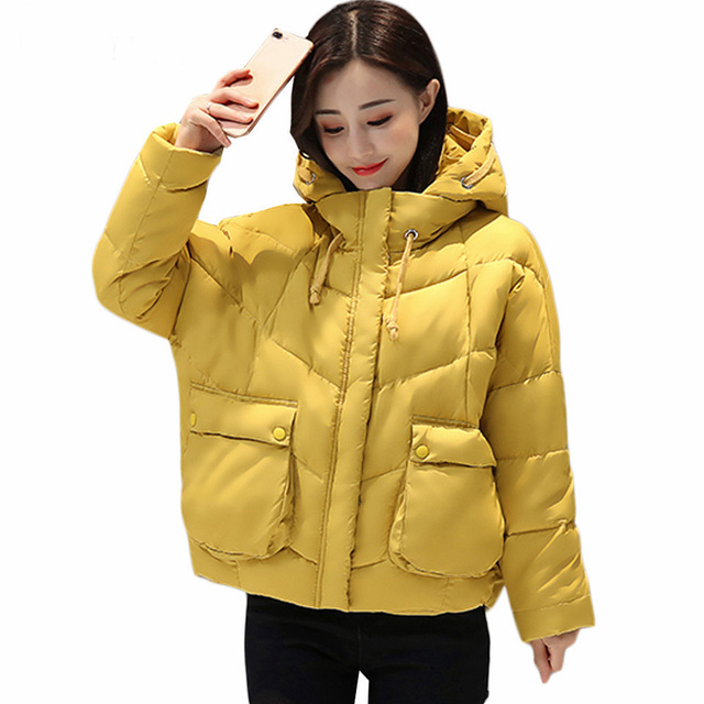 2017 Winter coat women Fashion Wine Red Parka Hooded Winter Jacket ...
