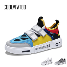 COOLVFATBO New Colorful Casual Shoes Men Brand Sneakers Men