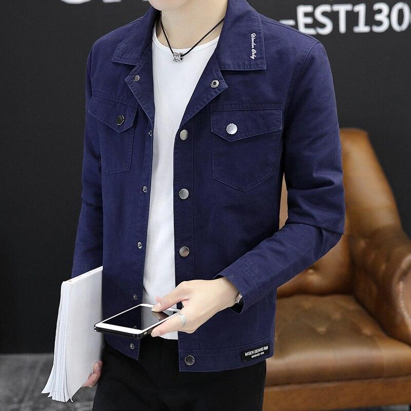 M Printemps Modèles Vêtements Coton Coréenne Version Denim 4xl Revers Nouvelle Jeunesse Hommes Taille Veste De 2018 Plus Casual dtQrxshC