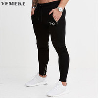 Men Cotton Sweatpants 2017 Autumn Winter Joggers Slim Fit Trousers Gyms Fitness Bodybuilding Casual Fashion Brand