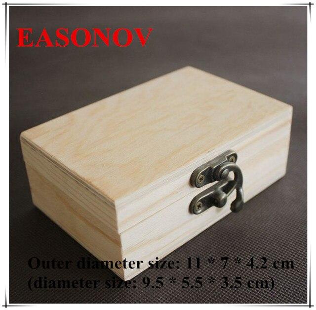 EASONOV 11 * 7 * 4.2 Cm Rectangular Wood Box Wooden Storage Box Small  Wooden Box