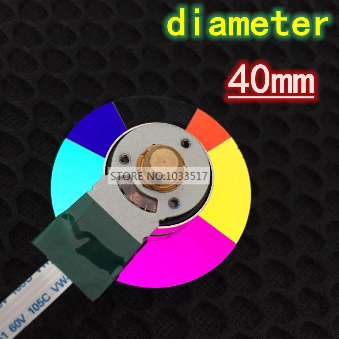New original projector color wheel for benq MX760/MX615/MS3081/MP513/MP512/MX505/MP522ST/MX615/MS3081 diameter 40mm Projector Accessories     - title=