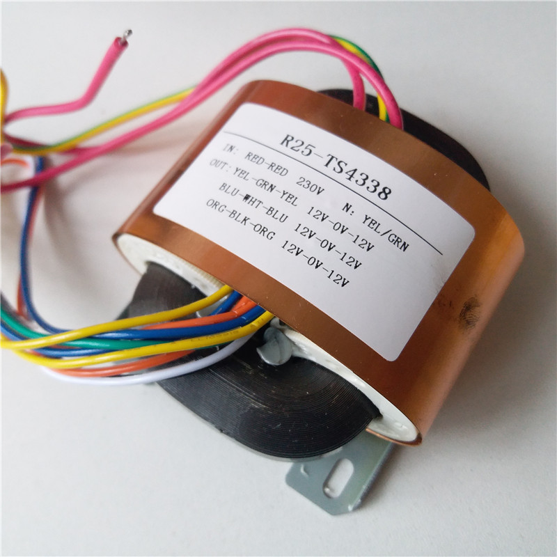 3*12V-0-12V 0.42A Transformer R Core R25 custom transformer 230V 30VA with copper shield for Pre-decoder HIFI power supply 7 5v 4a r core transformer 30va r30 custom transformer 230v copper shield for pre decoder power amplifier