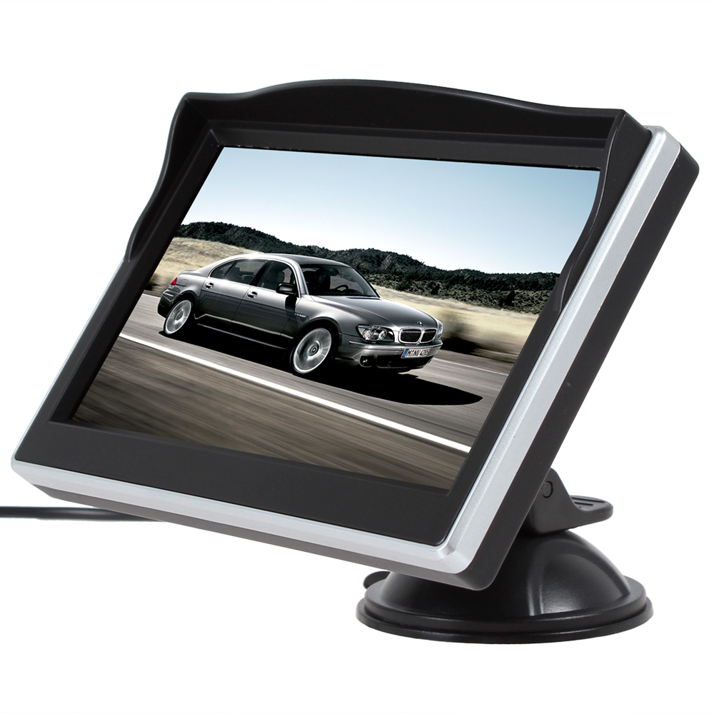 5 Inch TFT LCD 480 x 272 HD Color Car Monitor Support 2Ch Video Input For VCD / DVD / GPS / Rear View Camera
