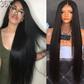 Silky Straight Full Lace Human Hair Wigs  Straight Peruvian Full Lace Wig Glueless Lace Front Wig U Part Wig For Black Women