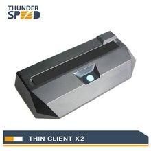 Cheap Fanless Linux Thin Client Mini PC Station X2 Dual Core 1 2G 512M RAM 2G