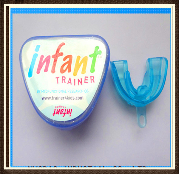 free shiping 2 5years baby infant teeth trainer brace protector blue phase I