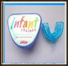 Бесплатная доставка, на возраст 2 5 лет, детский тренировочный бандаж для зубов, защита, синий фаз I