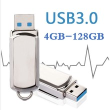 HOT USB 3.0 Flash Drive 32GB 64GB 128GB Pen 16GB 8GB 4G Keychain Memory Stick Metal Pendrive Classic Design Gadget