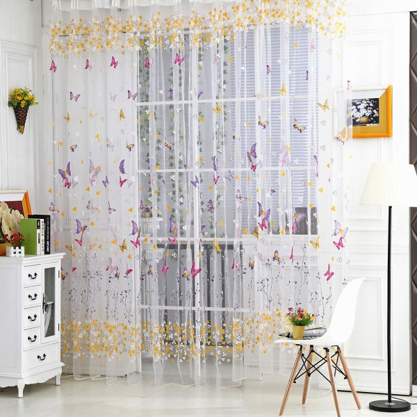 Compare Prices on Butterfly Door Curtain- Online Shopping/Buy Low ...