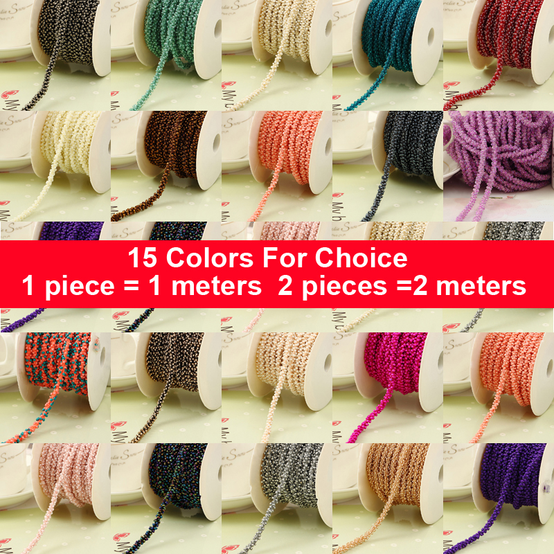1 Meter DIY Beads Rope Braid Hair Ornaments Handmade accessories Bows Accessories Jewelry Materials Clothing Accessories