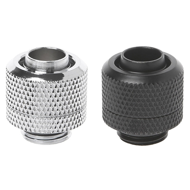 """Computer Water Cooling G1/4 3/8""""ID X 1/2""""OD 9.5x12.7mm Tubing Hand Compression Fittings Water Cooling"""