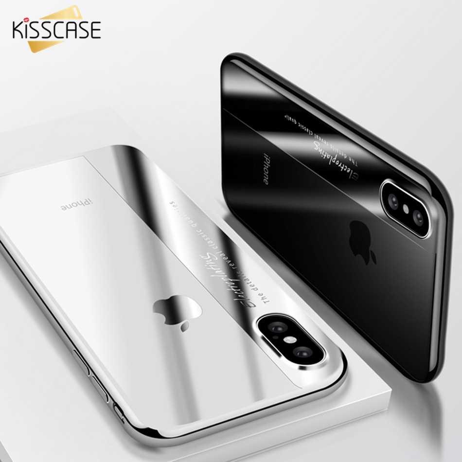 KISSCASE funda de vidrio templado para iPhone 6 6 s fundas bonitas