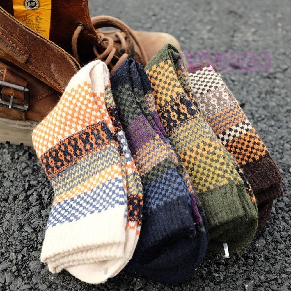 4Pair Casual font b Mens b font Warm Winter Soft Thick Angora Cashmere font b Rabbit