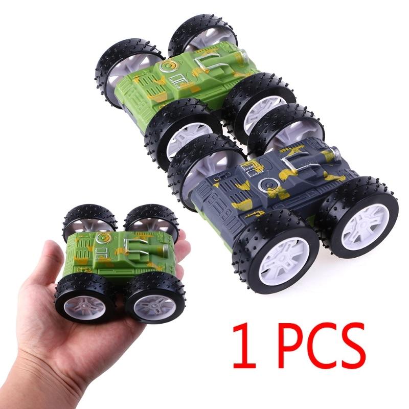 1pc New Inertia Tumbling Tank Vehicles Plastic Model Cars 2 Sides Birthday Gift Toys For Kids Children High Safety
