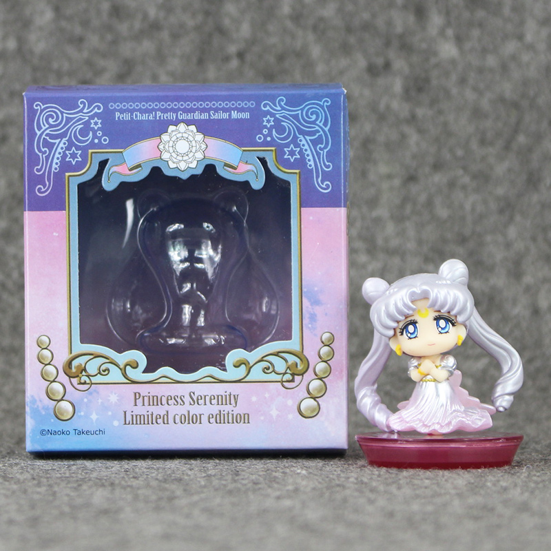 New 1pcs Sailor Moon Figure Toys 6cm Usagi Tsukino PVC Action Figure Toys With Box Collective Doll new hot 13cm sailor moon action figure toys doll collection christmas gift with box
