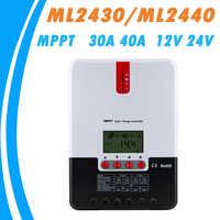Chargeur solaire MPPT et contrôleur de déchargeur 40A 30A LCD Max 100 V régulateur de panneau solaire avec dissipateur de chaleur pour Gel au plomb Li-ion