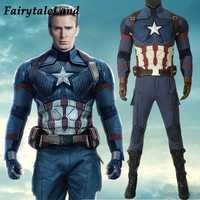 Avengers Endgame Captain America Cosplay kostüm full set Outfit Captain America Steve Rogers Overall freies verschiffen nach maß