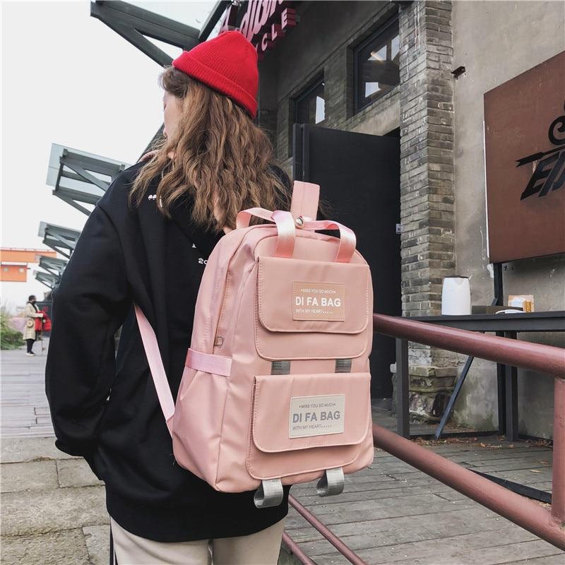 DCIMOR New Large Capacity Backpacks Waterproof nylon Ring portable backpack  School bag for Teenage Girls Mochila Female Daypack