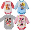 Newborn Clothes/Infant Girl Boy Rompers/Baby Long-Sleeve Cute Romper/Fashion Cartoon Character Mickey Clothing Set