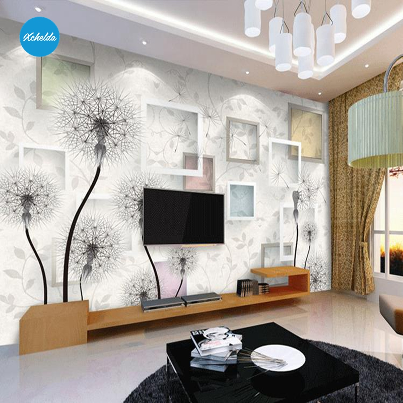 XCHELDA Custom Modern Luxury Photo Wall Mural 3D Wallpaper Papel De Parede  Living Room Tv Backdrop Wall Paper Of Dandelion custom children wallpaper multicolored crayons 3d cartoon mural for living room bedroom hotel backdrop vinyl papel de parede