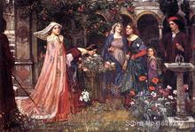 Animal paintings John William Waterhouse's reproduction The Enchanted Garden hand painted High quality