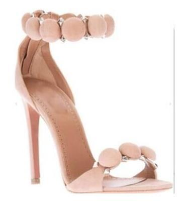 2016 Kim Kardashian High heel Sandals Suede T-Strap Woman Gladiator Sandals Sexy Summer Lady Party Shoes